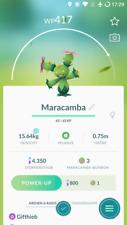 Pokémon Go Account mit regionalem Pokémon Maracamba Maractus