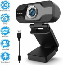 TedGem Webcam, Webcam 1080p, PC Webcam with Microphone Full HD Webcam USB Webcam