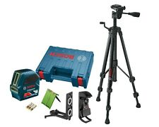 Bosch GLL100 G Green-beam Line Laser and BT150 Tripod Package