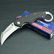 Smith & Wesson Extreme Ops 7Cr17 Karambit Folding Hawkbill Knife CK33 G-10