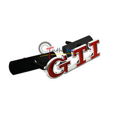 1PC Red Metal GTI Front Grille Badge for VW GTI GOLF MK2 MK1 Grill Chrome Emblem