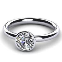 Solitär Diamant Brillant Ring 1,00 ct SI1 D 585 o. 750 Weißgold, alle Ringgrößen