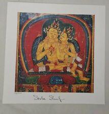 "Alexander Sasha   Shulgin signed ""Tantric Couple"" blotter art by Thomas Lyttle"