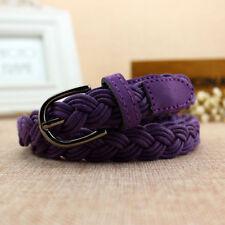 New Style Candy Colors Hemp Rope Braid Narrow Thin Belt Female  For Dress Skirt
