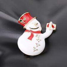 1 pcs Vintage Christmas Snowman Brooch Pin, Christmas Gift