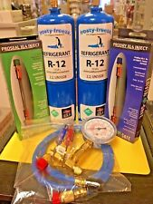 R-12, Refrigeration, R12, 2 Cans, Gauge, Hose, Pro-Seal Xl4 Pro-Dry New