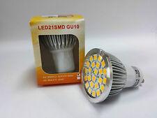 LED Energiesparlampe Lampe Strahler Spot Reflektor GU10 5W 3000k 21 SMD warmweiß