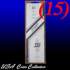 (15) Showgard Stamp Mounts Size 61/215 mm Black Background