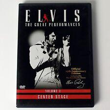 Elvis Presley - Elvis - The Great Performances - Vol. 1 Center Stage (DVD, 2002)