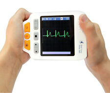 Handheld ECG Monitor with Lead Wire, Electrode Pad, Adaptor, USB Cable, CD, Case