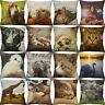 """18"""" Animal Cotton Linen Pillow Case Sofa Cushion Cover Throw Sofa Home Decor"""