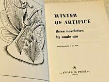 ANAIS NIN  Winter Of Artifice  1961 B&W Illus pbk  WINTER OF ARTIFICE  Anais Nin
