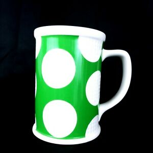 Starbucks 2006 Coffee Mug 16oz Golf Balls Green White Cup Tea