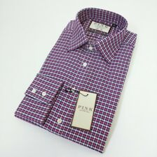 Thomas Pink Mens Dress Shirt Prestige Slim Houndstooth 16.5 - 42cm New RRP£145