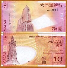 Macao / Macau, 10 Patacas, 2010, P-80b, BNU, UNC