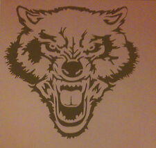 NEW W1 ANGRY WOLF Airbrush Stencil Mask Template Paint Craft Animal T Shirt