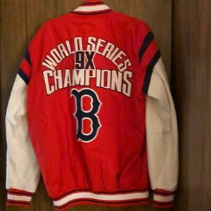 BOSTON RED SOX 9 TIME WORLD SERIES CHAMPIONS Jacket 2X