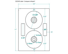 200 CD/DVD Labels Neato® Comparable Layout 378033