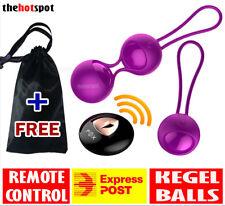 Fox Vibrating Ben Wa Jiggle BALLS Kegel Exercises Pelvic Floor Remote Control M3