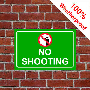 No shooting symbol sign countryside farm 9475 Waterproof Solvent Resistant signs
