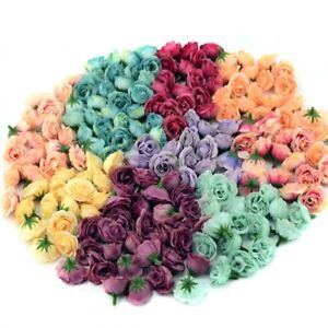 10Pc 2.5cm Mini Silk Artificial Rose Flower Heads For Wedding Party Home Decor
