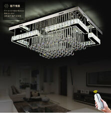 Rectangular living room lamp remote Dimmable LED crystal ceiling bedroom light