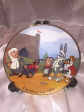 """Warner Brothers """"Kings Arthur's Court"""" Plate Bugs Bunny, Daffy Duck & Porky Pig"""