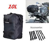 Universal Motorcycle Riding Rear Seat Bag Tail Storage Backpack Waterproof 10L