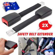 2X Heavy Duty Car Vehicle Seat Belt Extension Extender Strap Black Safety Buckle