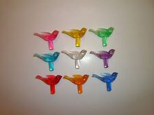 Vintage Doves Birds For Ceramic Christmas Tree Bulbs 9 Colors