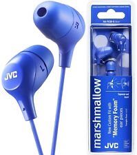 JVC HA-FX38-A BLUE Marshmallow In-Ear Tangle-Free Stereo Earphones / Brand New