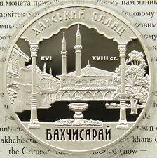 Ukraine 10 UAH 2001 RARE PROOF 1 OZ Silver COA Khan Palace in Bakhchyserai