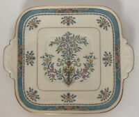 Lenox RARE Blue Tree Square Handled Serving/ Under Plate Black Stamp Gold Trim