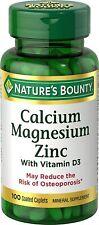 Nature's Bounty Calcium Magnesium & Zinc - 100 Capsules - Exp 8/2023