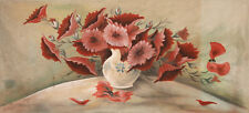 1978 LARGE STILL LIFE WITH FLOWERS OIL PAINTING SIGNED