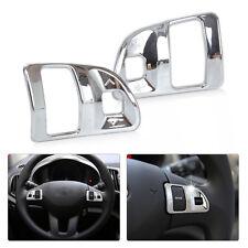 2pcs ABS Chrome Steering Wheel Molding Cover Trim for 2011 - 2015 Kia Sportage R
