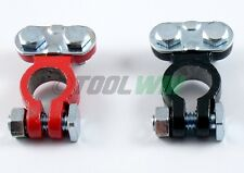 2pc Top Post Battery Cable Wire Terminals Car Truck Auto Heavy Duty Red & Black