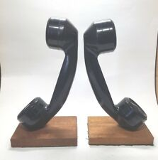 VTG Telephone Book Ends Rotary Dial Phone Receiver Bookends Junior Achievement