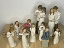 Lot of 10 Willow Tree Figurines. Free shipping.