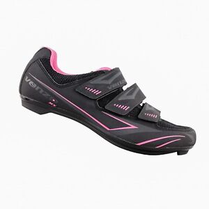 Venzo Bike Bicycle Women's Ladies Cycling Riding Shoes - BLACK/PINK - Size 7.5US