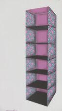 6 Shelf Hanging Organizer nursery baby girl clothes room pink shoes wardrobe