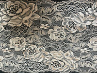 """Beautiful 6.5""""/16cm Antique Rose Pink Flat Galloon Lace Trim. Sewing/Bridal."""