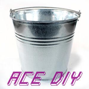 Galvanised Bucket | 7 L or 12 L Heavy Duty Metal Pail Water Feed Coal Fire Ash