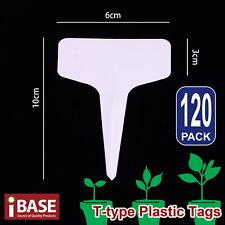 120x Plant Marker T-type Garden Labels Plastic Tags Nursey Seed 10x6 cm Grey