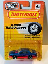 MATCHBOX MB59 FORD T-BIRD TURBO COUPE METALLIC BLUE & HOT PINK