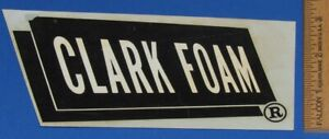 Vintage Original 1960's Clark Foam Surfboard Foam Surfing Water Slide Decal
