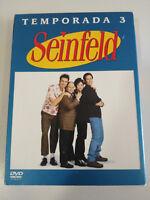 SEINFELD TERCERA TEMPORADA 3 COMPLETA 4 X DVD ESPAÑOL ENGLISH EDICION ESPECIAL