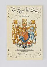 29 July 1981 The Royal Wedding - Marriage of Charles + Diana, Official Programme