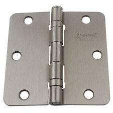 """3.5"""" Ball Bearing Door Hinges 1/4"""" Radius Hinge 3-1/2"""" Satin Nickel 3514-2BB-SN"""