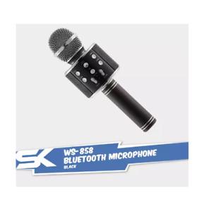 WS-858 Wireless Karaoke Bluetooth Microphone HIFI Speaker - Black